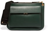 Marni Wallet Medium Two-tone Leather Shoulder Bag - Forest green