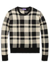 Ralph Lauren Plaid Cashmere-Wool Sweater