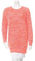 Stella McCartney Open Knit Crew Neck Sweater