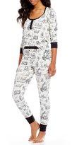 BedHead Noir Alice Toile Henley Pajamas