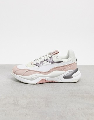 Puma RS-2K trainers in grey and pink