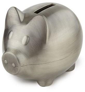 Elégance Piggy Bank Pewter Finish Plain