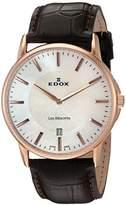 Edox Men's 56001 37R NAIR Les Bemonts Analog Display Swiss Quartz Brown Watch