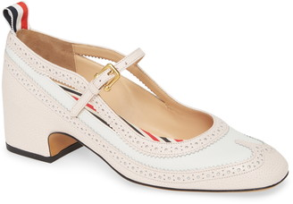 Thom Browne Brogued Spectator Mary Jane