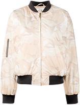 Ganni - camouflage bomber jacket - women - Polyester - 34