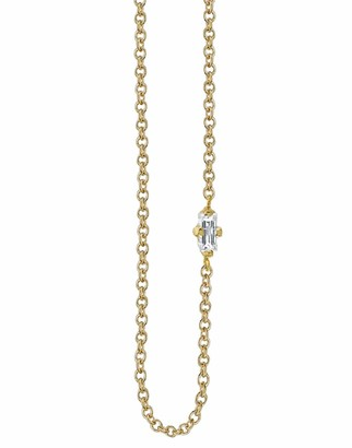 Lizzie Mandler Floating White Diamond Baguette Necklace