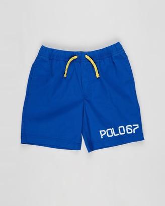 Polo Ralph Lauren Boy's Blue Shorts - Stretch Dense Poplin Hiking Shorts - Teens - Size M at The Iconic