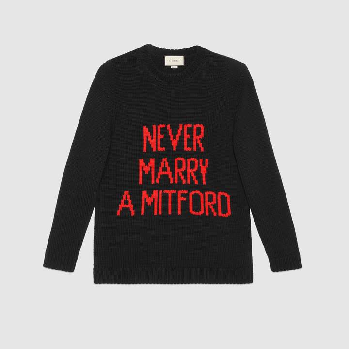 """Gucci """"Never Marry a Mitford"""" sweater"""