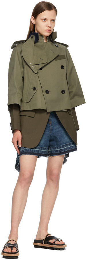 Thumbnail for your product : Sacai Khaki Gabardine Suiting Jacket