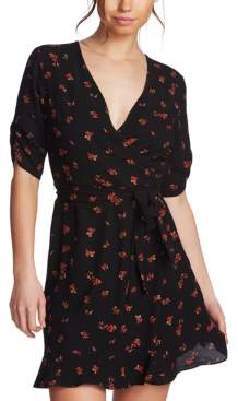 1 STATE 1.State 1.state Floral-Print Cinch-Sleeve Dress