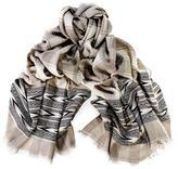Black Malana Himalayan Cashmere and Wool Scarf