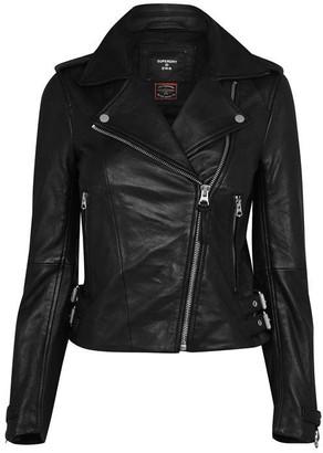 Superdry Leather Bike Jacket
