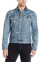 Calvin Klein Jeans Men's Ripped Denim Jacket