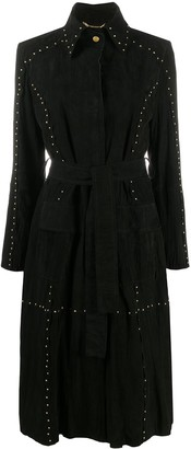 Alberta Ferretti Studded Leather Coat