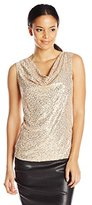 Calvin Klein Women's Sequin Cowl Neck Top