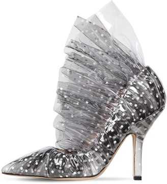 Midnight 00 105mm Shell Plexi & Tulle Pumps