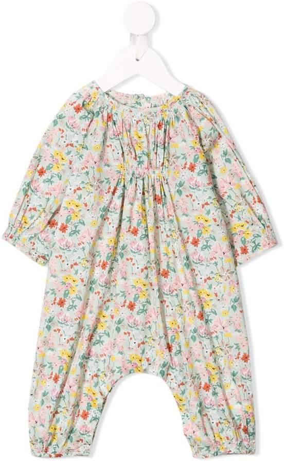 Bonpoint floral-print onesie