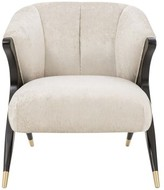 Eichholtz Pavone Armchair Upholstery Color: Gray