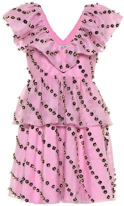 Ganni Exclusive to Mytheresa Floral-embellished dress