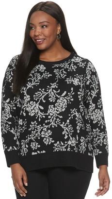 Croft & Barrow Plus Size Print Sweater