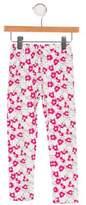 Oscar de la Renta Girls' Floral Print Leggings