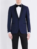 Lardini Tailored-fit shawl lapel wool jacket