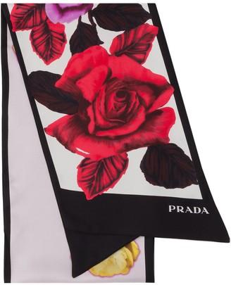 Prada Roses Print Scarf
