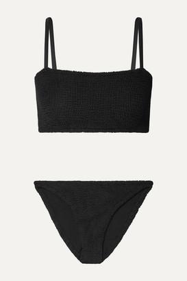 Hunza G Gigi Seersucker Bikini - Black
