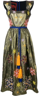 Yuliya Magdych Snowflakes embroidered dress