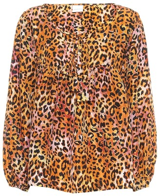 Anna Kosturova Exclusive to Mytheresa Leopard-print silk blouse