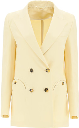 BLAZÉ MILANO UNLINED SAVANNAH EVERYDAY BLAZER 1 Beige Silk, Linen