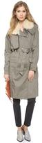 Rebecca Minkoff Shearling Collar Trench Coat