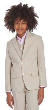 Calvin Klein Big Boys Stretch Subtle Pinstripe Heather Suit Jacket