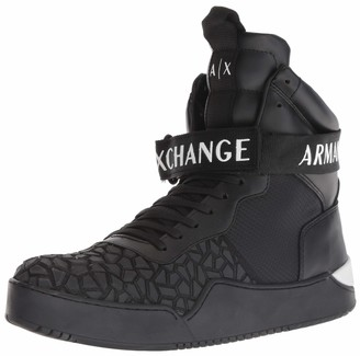 Armani Exchange A|X Men's High Top Lace Up Sneaker with Strap