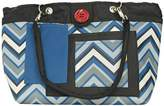 2 Red Hens Rooster Diaper Bag, Blue Chevron by