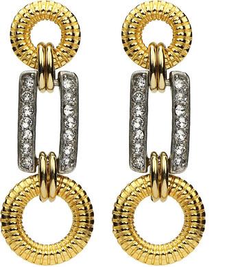 Ben-Amun Two-Tone Three-Link Earrings