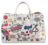Anya Hindmarch Maxi Stickered-Up Feather Ebury Tote