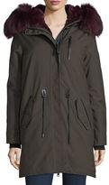 Mackage Rena-WX Zip-Front Parka Jacket w/ Fox Fur