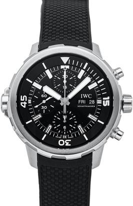 IWC Black Stainless Steel Aquatimer Chronograph IW3768-03 Men's Wristwatch 44 MM