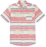 Faherty Coast Striped Cotton Oxford Shirt - Red