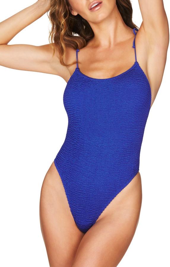 Bond Eye BOUND by Bond-Eye The Micki Brazilian Ribbed One-Piece Swimsuit