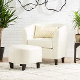 Mercury Row Apollonios Retro Barrel Chair and Ottoman
