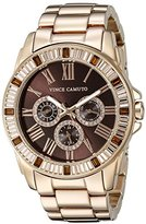 Vince Camuto Women's VC/5158BNRG Swarovski Crystal Accented Multi-Function Dial Rose Gold-Tone Bracelet Watch