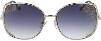 Chopard Eyewear Oversized Crystal Detail Sunglasses