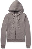 Rick Owens Drkshdw Cotton-jersey Zip-up Hoodie - Gray