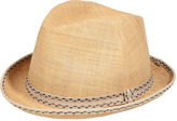 Paul Smith Natural Straw Trilby Hat