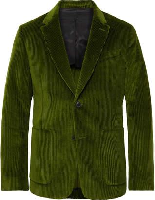 Ami Green Cotton-Corduroy Suit Jacket