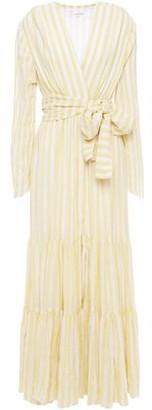 SUNDRESS Sequin-embellished Metallic Gauze Maxi Dress