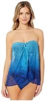 Lauren Ralph Lauren Ombre Palm Flyaway Convertible One-Piece (Blue) Women's Swimsuits One Piece