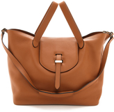 uncategorized  Who made Lily Aldriges brown leather handbag?